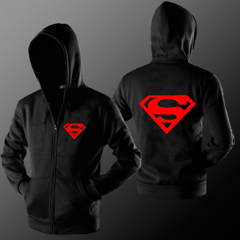 MIDUO 2018 New Fashion Brand Superman Zipper Hoodie Fleece Sweatshirts Brand Clothing Street Men Women Casual Hoodies Cardigan J