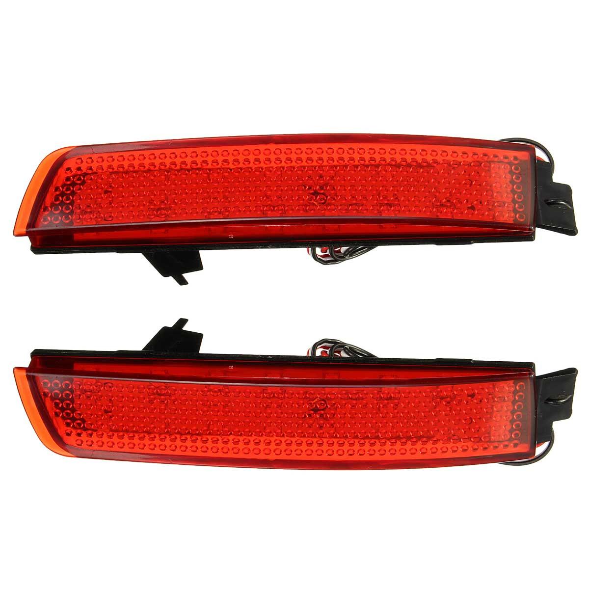 2 Pcs Car LED Rear Bumper Reflector Tail Brake Light For Infiniti FX37/35/50/Nissan/Sentra/Juke/Murano/Quest rear bumper reflector light for nissan juke murano sentra quest infiniti fx35 fx37 fx50 led red fog parking brake tail lamp