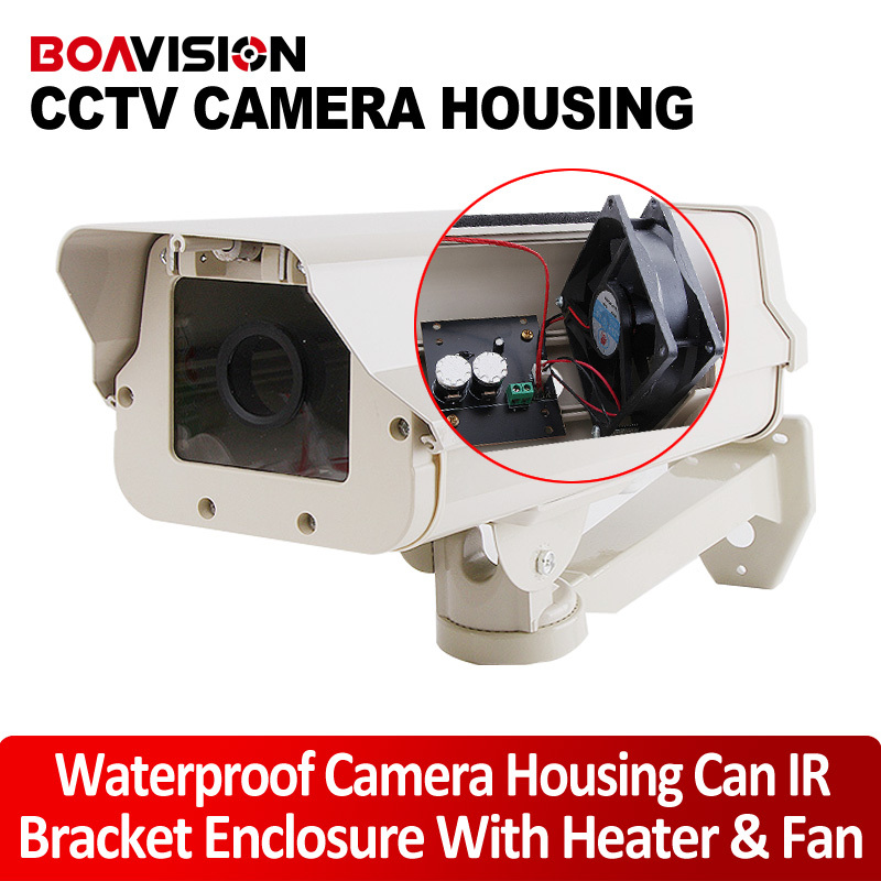 CCTV Camera Housing Aluminum Alloy For Bullet Box Camera With Bracket For Extreme Cold or Warm Outdoor Built-in Heater And Fan чехлы для телефонов skinbox накладка skinbox shield 4people для samsung galaxy on7 sm g600f