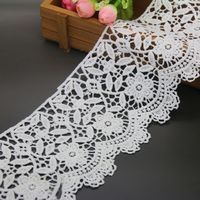 Water Soluble Lace Fabric Trimming High Quality White Color Garment Accessories DIY Handcrafts Fashion Home Decoration