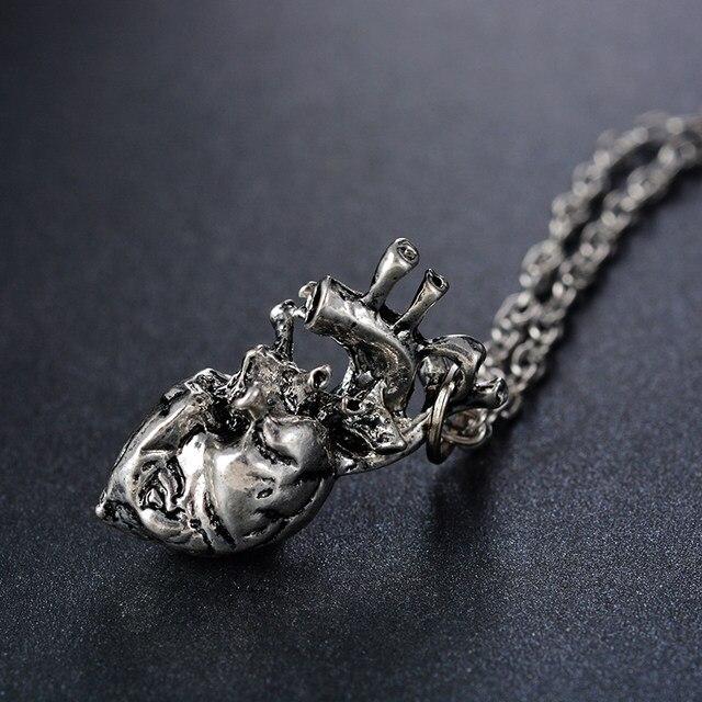 Online Shop FUNIQUE Punk Anatomical Heart Necklace Vintage Anatomy ...
