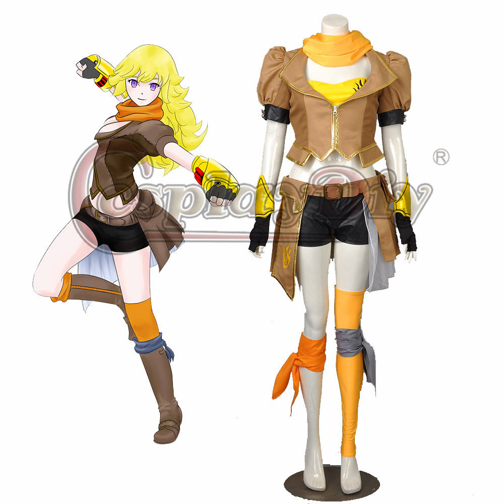 Cosplaydiy RWBY Yang Xiao Long Cosplay Costume Adult Women Halloween Carnival Outfit Custom Made D0518