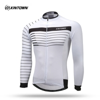XINTOWN Team Bike Jersey Thermal Fleece Cycling Jersey Ciclismo Sport Clothing Long Sleeve Warm Winter Bicycle