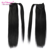 10 Colors Top Quality Human Hair Ponytail Extensions Brazilian Virgin Human Hair Clip In Ponytails 12″-24″ Long Straight