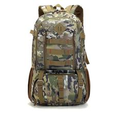 Large Waterproof Camo Military Tactical Backpack Mountaineer Hiking Camping Hunting Backpack Outdoor Sports Bag Rucksack HAB337