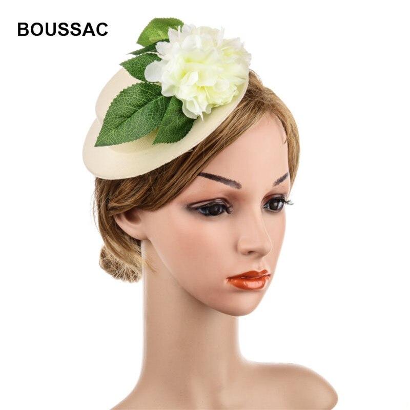 Fascinators Hats for Woman Elegant Ladies Sinamay Formal Wedding Dress Pillbox Hat with Floral Derby Vintage Fedora KRASTAL