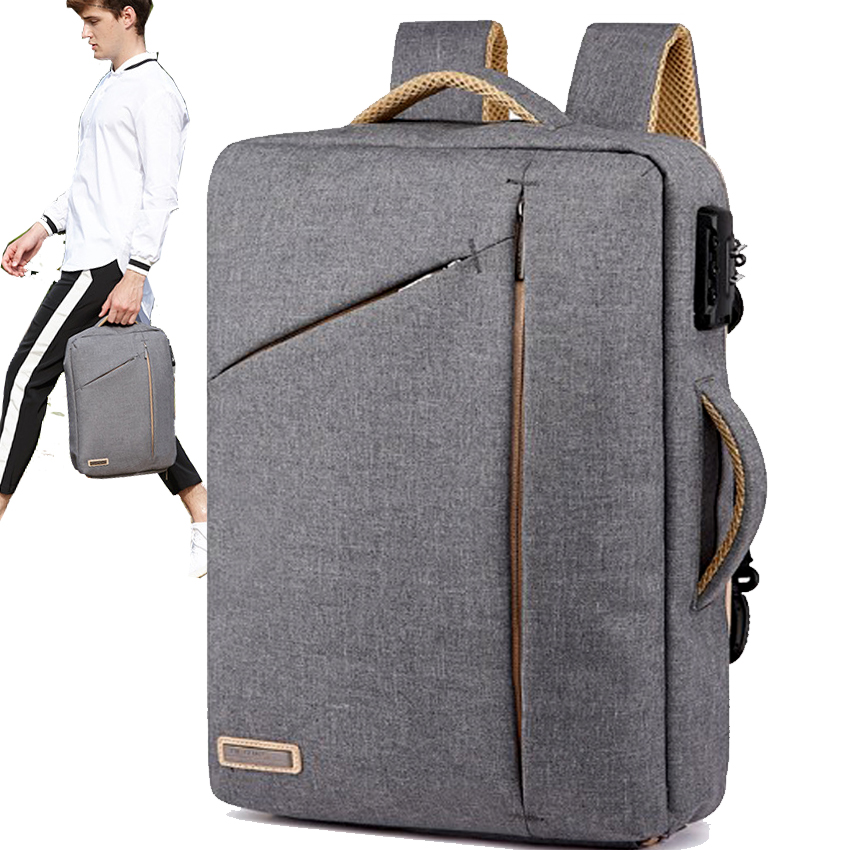 Backpack Men canvas Lightweight 15.6 Inch Laptop Notebook Backpacks 2018 Women Waterproof Business travel Anti Theft Backpack voyjoy t 530 travel bag backpack men high capacity 15 inch laptop notebook mochila waterproof for school teenagers students