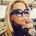Oversized Cool Shades Women Brand Designer Sunglasses Army Green Camo  Cross Sun Glasses Female Frame tom UV400 Vintage Cat Eye