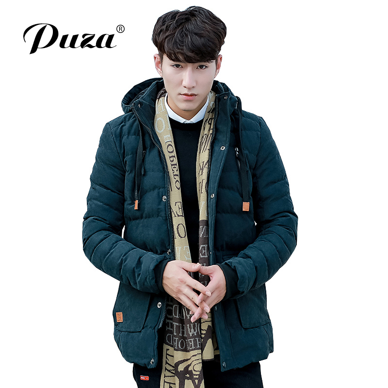 PUZA GRAND 2017 Hot Sale Men's Parkas Men Winter Casual Warm Cotton-Padded Coat Jacket Size L-3XL Top Parkas High Quality hot sale cotton solid men tank top