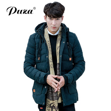 PUZA GRAND 2017 Hot Sale Men's Parkas Men Winter Casual Warm Cotton-Padded Coat Jacket Size L-3XL Top Parkas High Quality