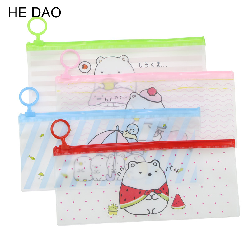 1 Pc Sweet Lazy Sumikko Gurashi Pvc Waterproof Pencil Bag Stationery Storage Organizer Bag School Supply Student Prize