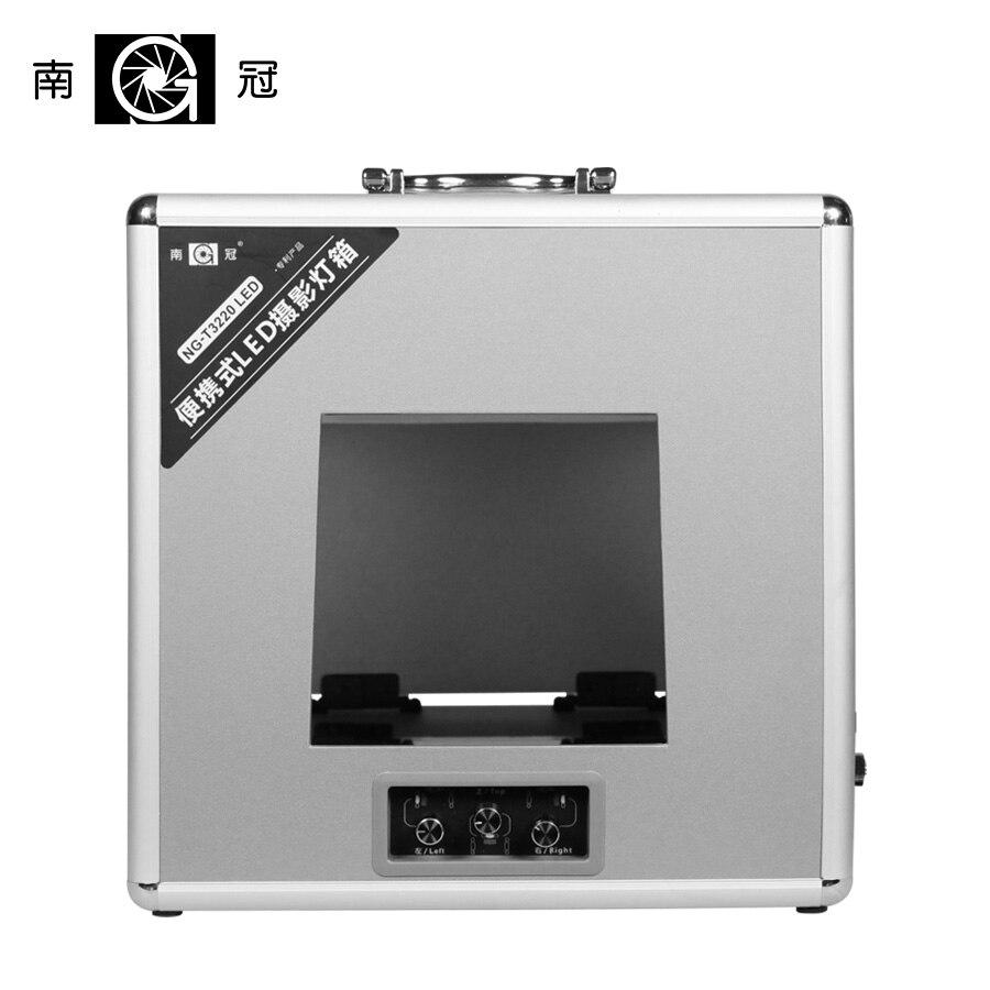 NanGuang NG-T3220 LED Portable Photo Lighting Case Portable Foldable Mini Photo Studio Box Case  Photography Build-in LED  CD50