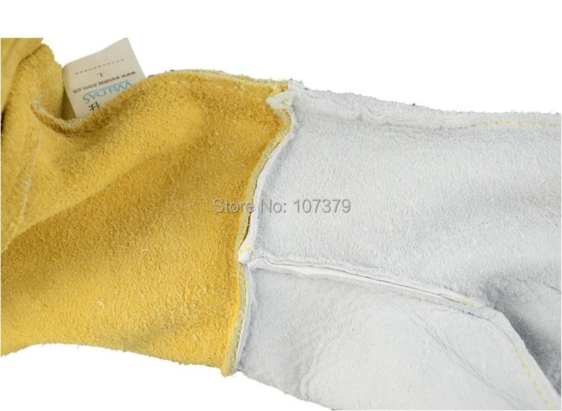 Lederarbeitshandschuh Lederschweißschutzhandschuh Maserung - Schutz und Sicherheit - Foto 5