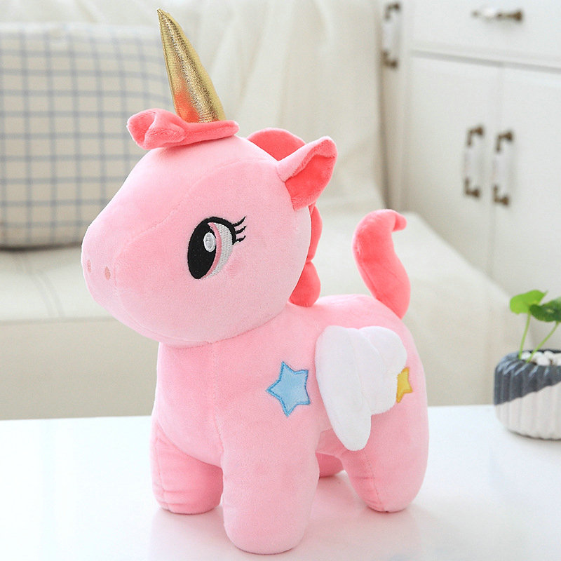 цены 20cm Cute Simulation unicorn Plush Animals Stuffed Plush Pillow Cushion horse Toys Decoration Birthday Gifts Kids Toys
