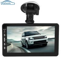 VODOOL 7in TFT 1080P Dual Lens Car Truck DVR Camera Auto Night Vision Motion Detection Suction Cup Dash Cam 24V Rear View Camera