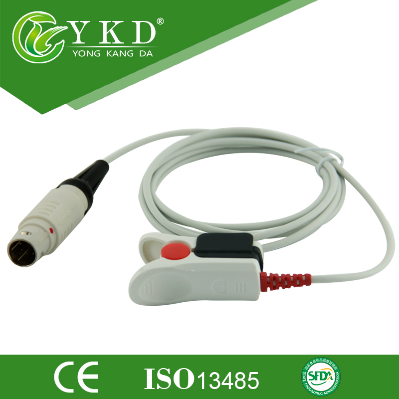 Medical Cable Drager Adult finger Clip Spo2 sensor,Direct Reusable 8Pin spo2 probeMedical Cable Drager Adult finger Clip Spo2 sensor,Direct Reusable 8Pin spo2 probe