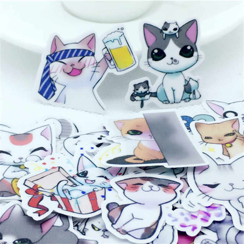 40 Pcs Cartoon fairy cat Stickers kawaii Decal For Phone Car Laptop Bicycle Notebook Backpack Kids Toy stickers scrapbooking