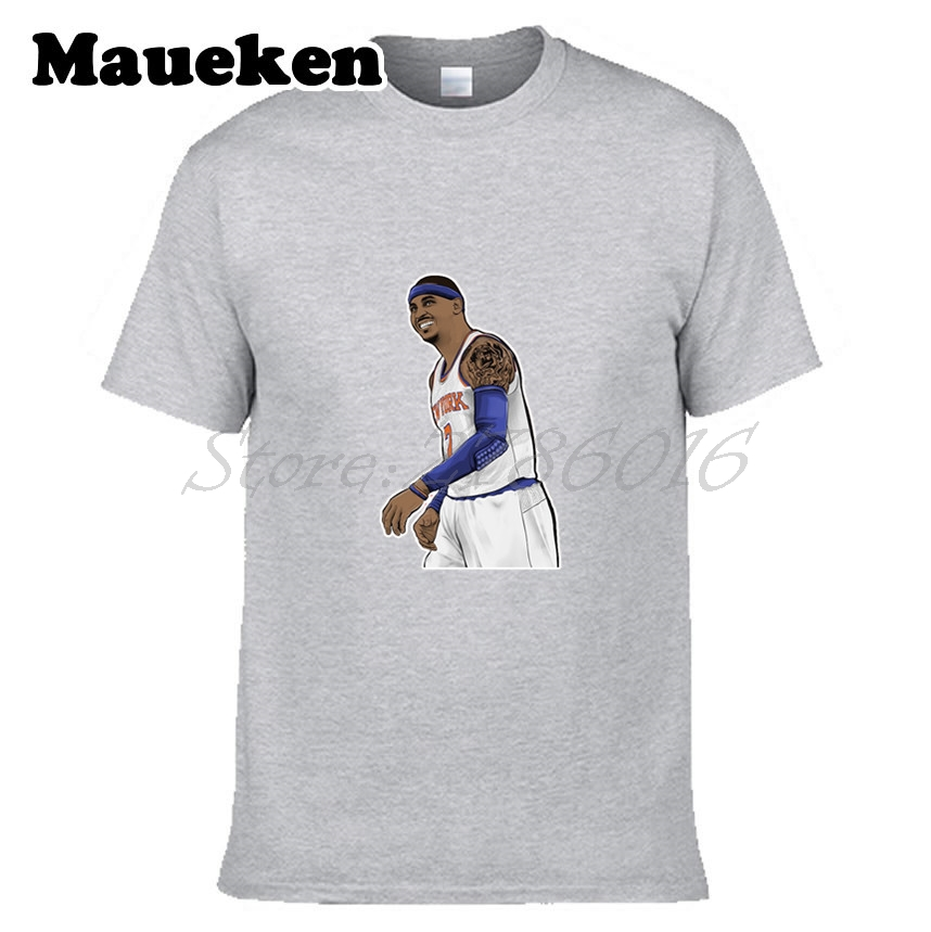 Men Carmelo Anthony #7 T-shirt Clothes Short Sleeve T SHIRT Mens Fashion W0223029 ...
