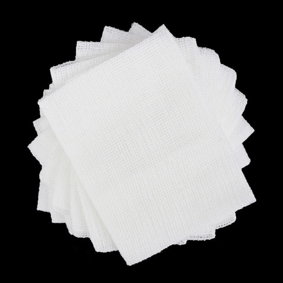 10 Tablets Sterile Medical Gauze Piece Disinfection Sterilization Degreasing Cotton Gauze  10X10cm