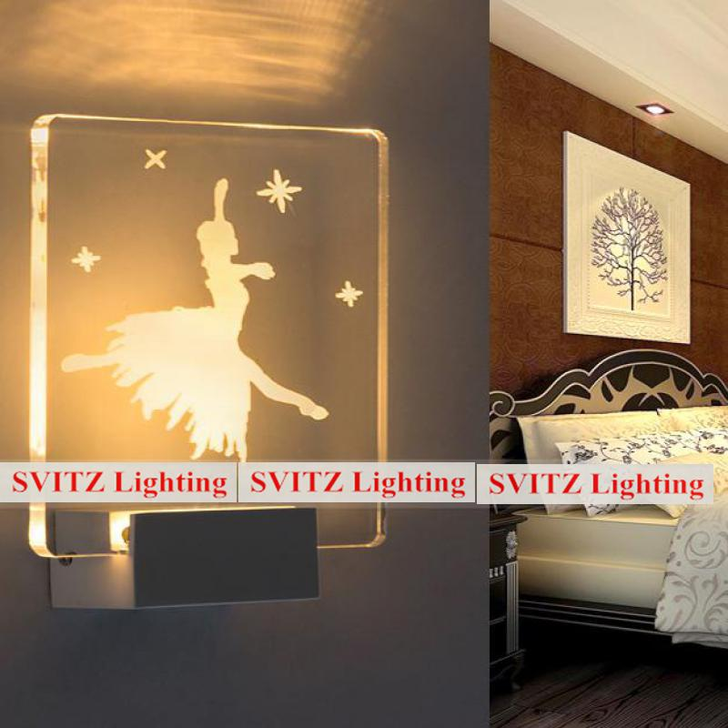 Modern 3-5W Sculpture Led strip Luminaire led wall light Bedroom Balcony Wall Lamp Wedding fixture Home led lights & lighting modern lustre chrome metal led wall lights creative wifi model crystal bedroom led wall lamp corridor led lighting light fixture