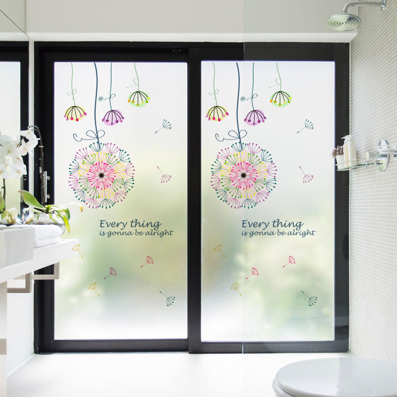 Free Custom Static Cling Window Film Frosted Opaque Privacy Stained Glass Sticker Home Decor Digital print BLT85 Wishes