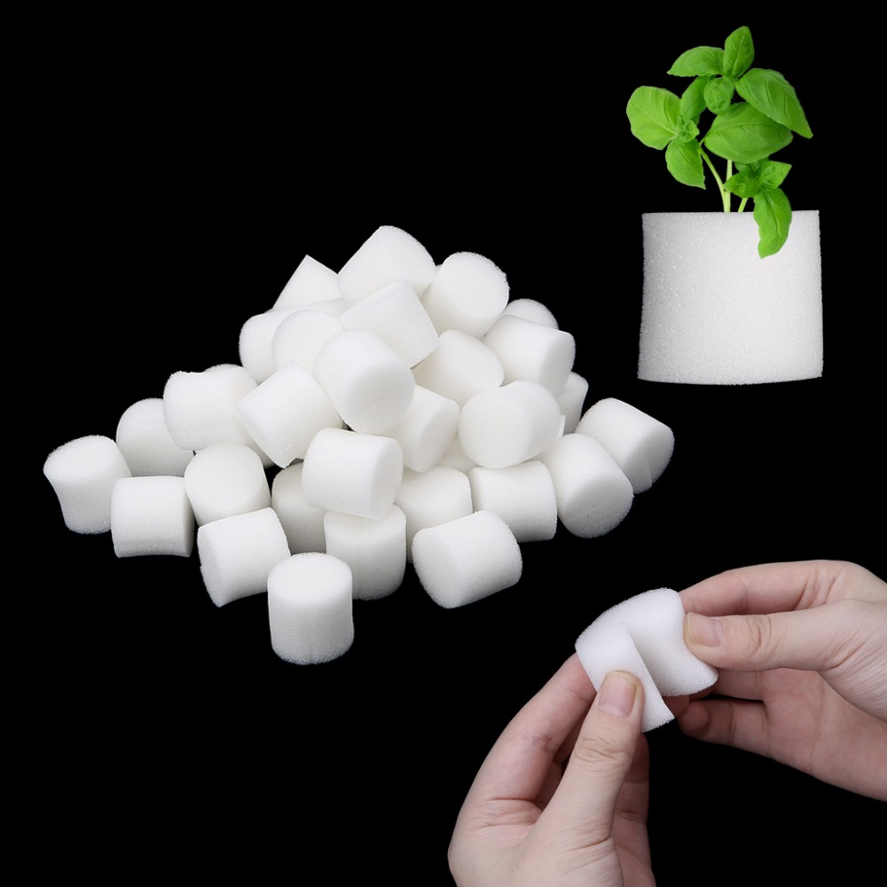50Pcs/Set Soiless Hydroponic Gardening Plant Tools Planted Sponge Vegetable Cultivation System 32x30mm 45x30m Optional