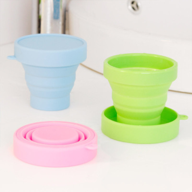 Outdoor Portable Silicone Telescopic Foldable Cup