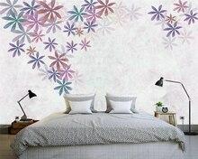 beibehang papel de parede Nordic style background hand drawn leaves modern minimalistic fresh wallpaper papier peint