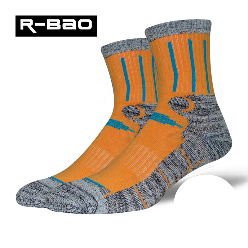 R-Bao Brand Womens Outdoor Hiking Socks Cotton Quick Dry Trekking Mountaineering Sports Sock Professional Skiing Socks W04