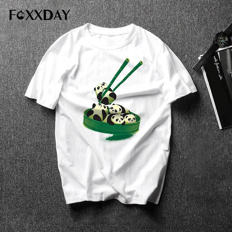 Streetwear T-shirt Animal Funny Panda Tops Men's T Shirt Short Sleeve Tee Shirts For Male Clothes Tops Free Shipping Camiseta
