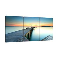 Bridges over the Sea Large Canvas Prints Wall Art Seascape Pictures Paintings for Bathroom Living Room Home Decor Drop shipping