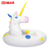 DMAR 108cm 43'' Inflatable Unicorn Super Giant Pool Float Swimming Ring Circle Inflatable Mattress Sea Beach Party Toys Flamingo