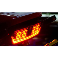 LED Motorcycle Laser Fog Light Anti Collision Tail Auto Brake Parking Lamp Motorbike Warning Lights Styling