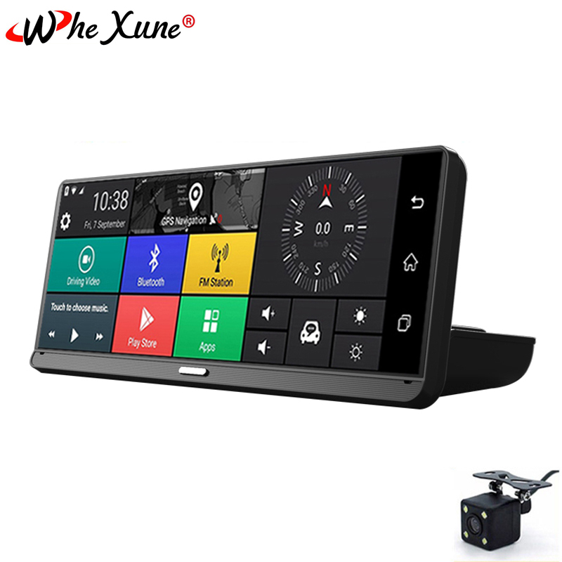 WHEXUNE 2019 Nova 8 polegada IPS toque Android 5.1 Full HD 1080 P Carro DVR com Navegação GPS Bluetooth WI-FI ADAS Google play cam traço
