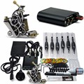 Professional Tattoo Kit 1 Tattoo Guns Cheap 8 wrap coils Pigment Induction Complete Tattoo Machine set for Beginner Body Art