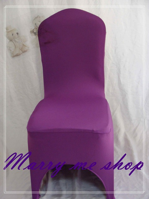 Universal Banquet Chair Covers Sit To Stand Recliner 100 Violet Lycra Wedding Spandex Cover For Sale