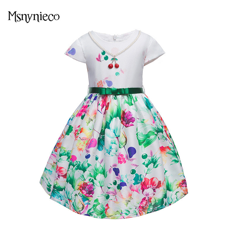Girl Dress 2017 Brand Summer Kids Party Christmas Dresses for Girls Toddler Clothes Costumes 3-9 Years Children Clothing jeremiah 2016 brand summer girl dress children party dress flower girls dress kids dresses for girls clothes fit for 2y 8y