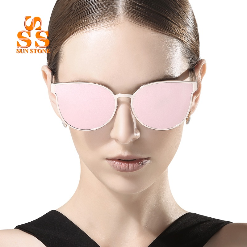 9de2baf910 ... de PIEDRA DEL SOL de Lujo Espejo Lente Gafas de Sol y la Caja 2017 nueva  Lista de Diseñador de la Marca Mujeres de Los Hombres de Colores de Moda  UV400 ...