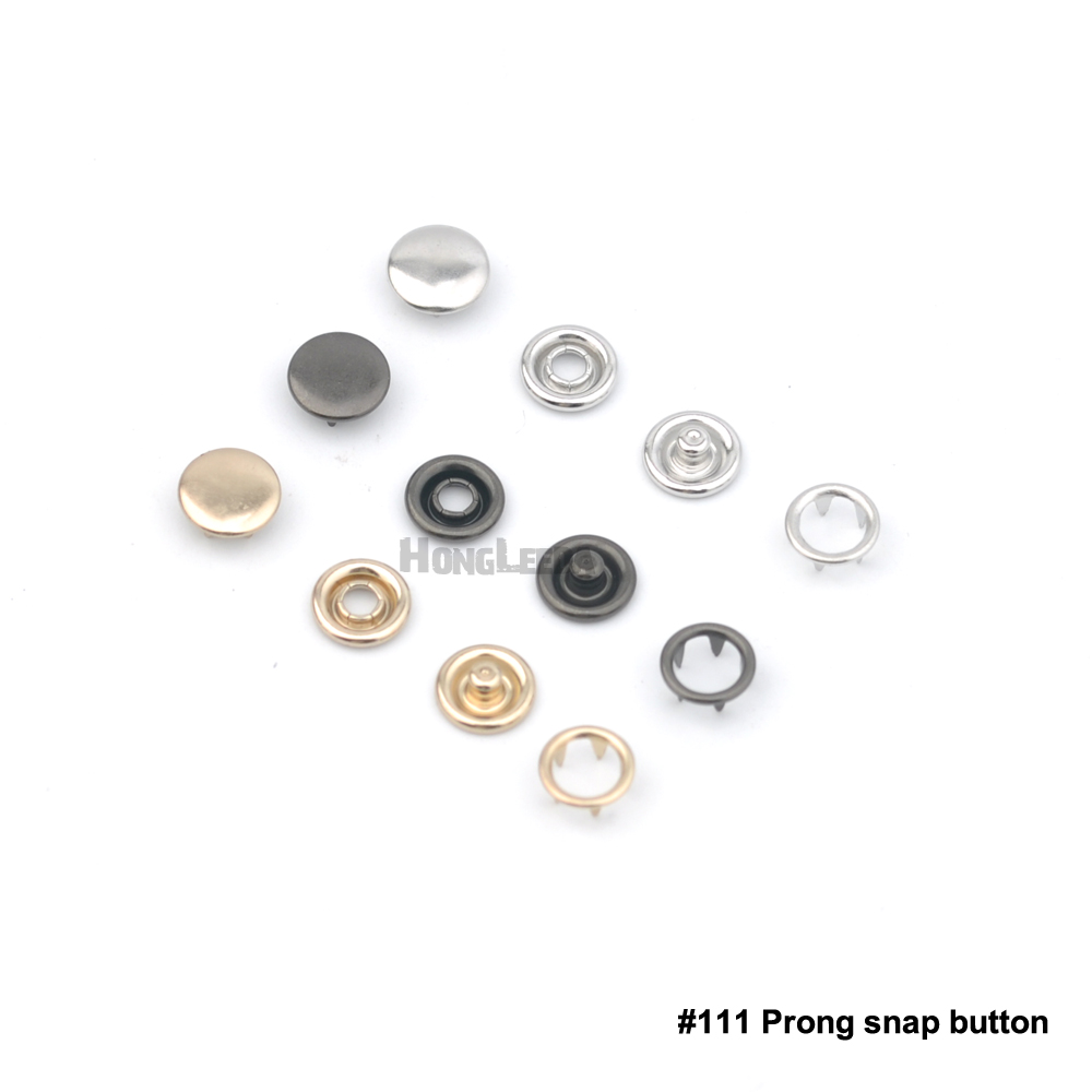 150sets <font><b>8mm</b></font> Metal cap prong snap <font><b>buttons</b></font> #111 <font><b>button</b></font> fastener 4 part metal <font><b>buttons</b></font> nickle,black,gold for baby clothes image