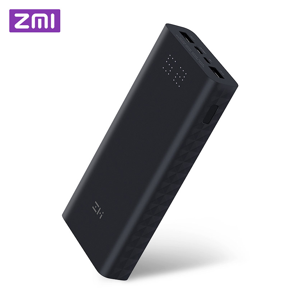 Xiao mi Z mi Powerbank batterie externe 20000 MAh Charge rapide QC3.0 Xiao mi batterie double USB 27 W 20000 mah QB822 pour iPhone iPad ordinateur portable