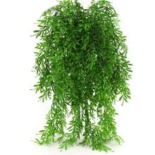 Plants Vine-Greenery-Garland Wall-Hanging Wedding-Decoration Artificial-Flowers Rattan