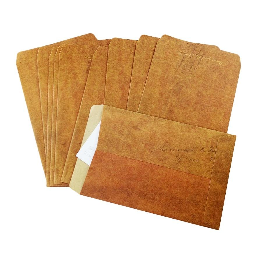 100pcs/lot Diy Multifubction Vintage Gift Cover Wallet Kraft Envelope Greeting Cards Cover 16*11cm Wholesale