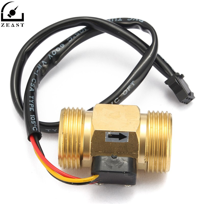 Flow Sensor G3/4 DN20 Copper Hall Effect Liquid Water Flow Sensor Switch Flow Meter