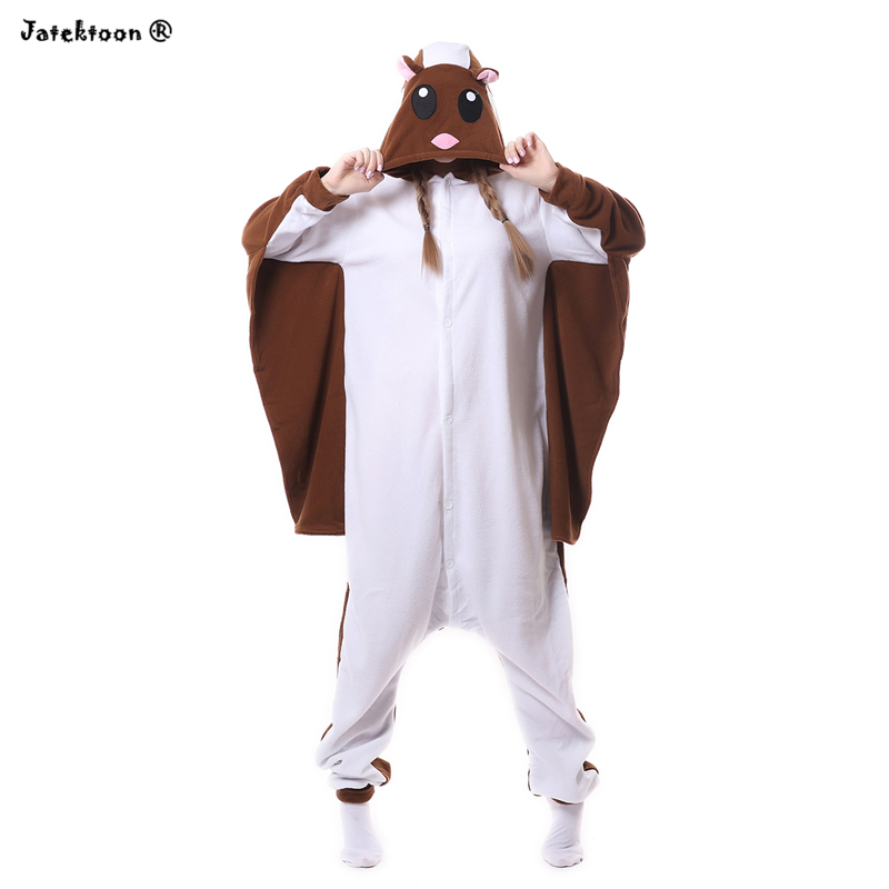 Funny Adult Jumpsuit Unisex Flying Squirrel Onesie Pyjamas Flier Mouse Sugar Glider Pajamas Fly Missiles Animal Cosplay Costumes