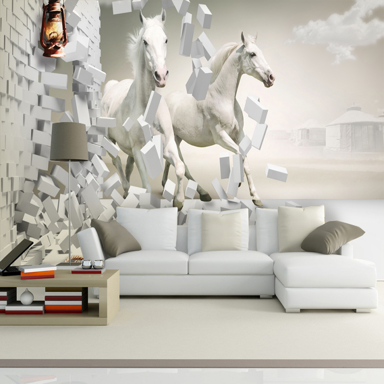 Online get cheap horse wallpaper alibaba for 3d wallpaper of bedroom