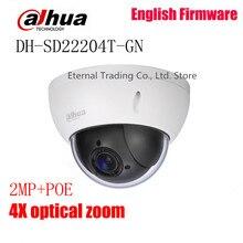 Original dahua Network PTZ Camera DH-SD22204T-GN 2.0MP CMOS 4x Zoom 1080P Mini PTZ Dome Camera