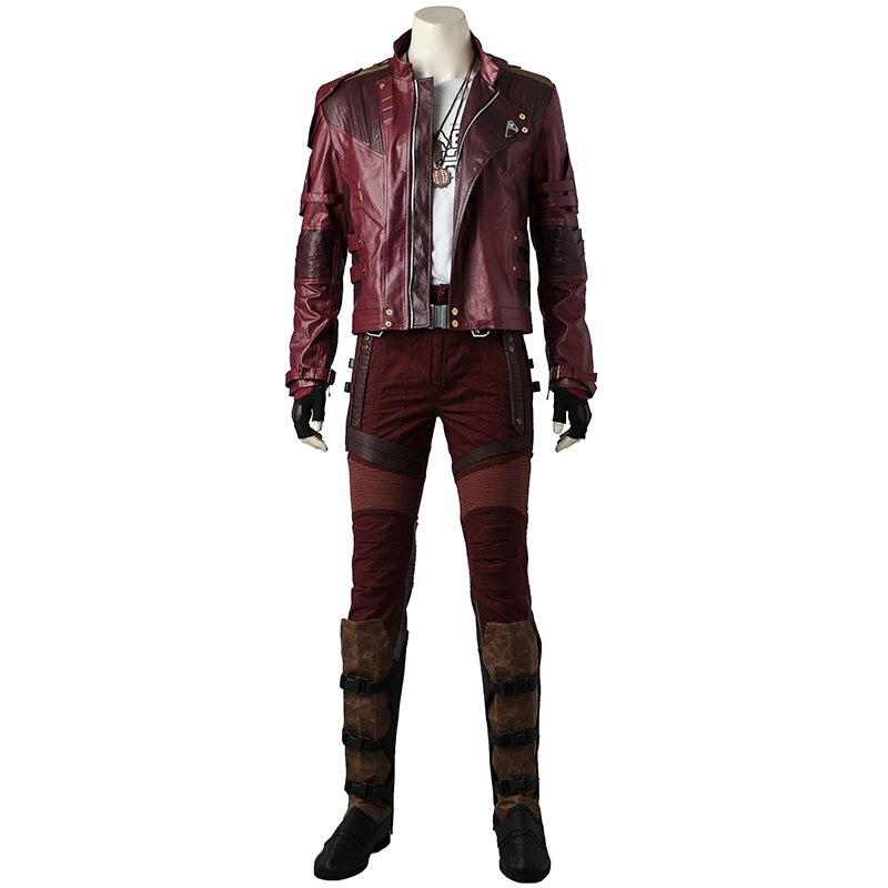 Guardiani della Galassia 2 Cosplay Star Signore Costume Vestito Del Peter Quill Cosplay giacca Superhero Halloween Set Completo Custom Made