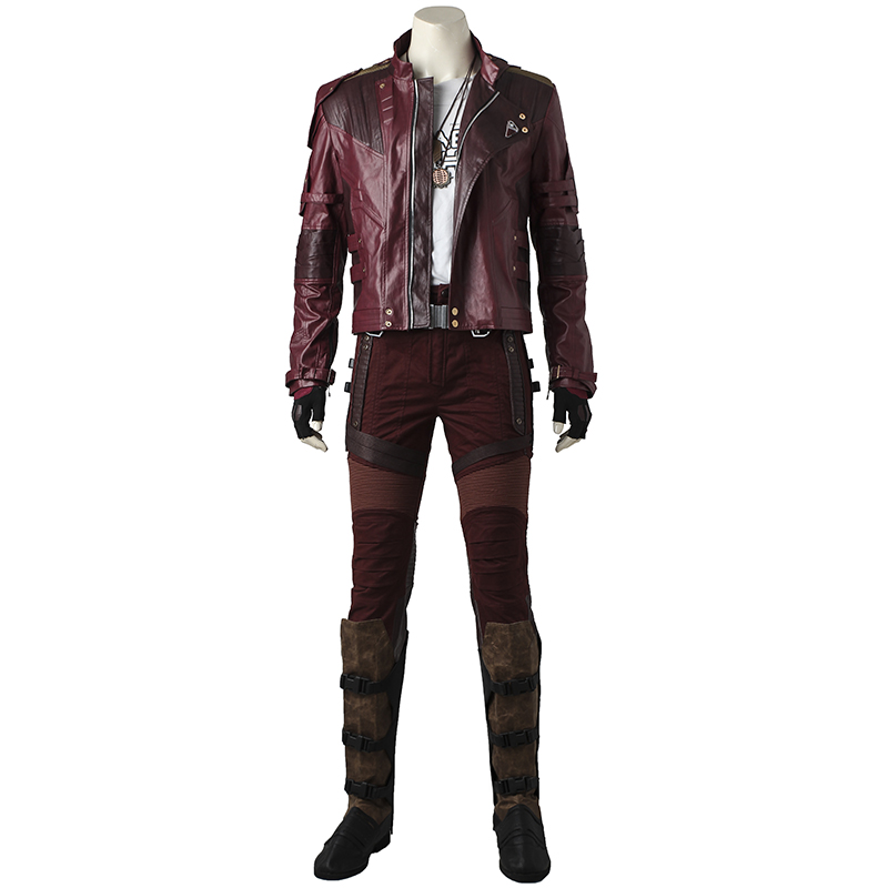 In Stock Guardians Of The Galaxy 2 Cosplay Star Lord Costume Peter Quill Leather Uniform Superhero Men Halloween Carnival Outfit