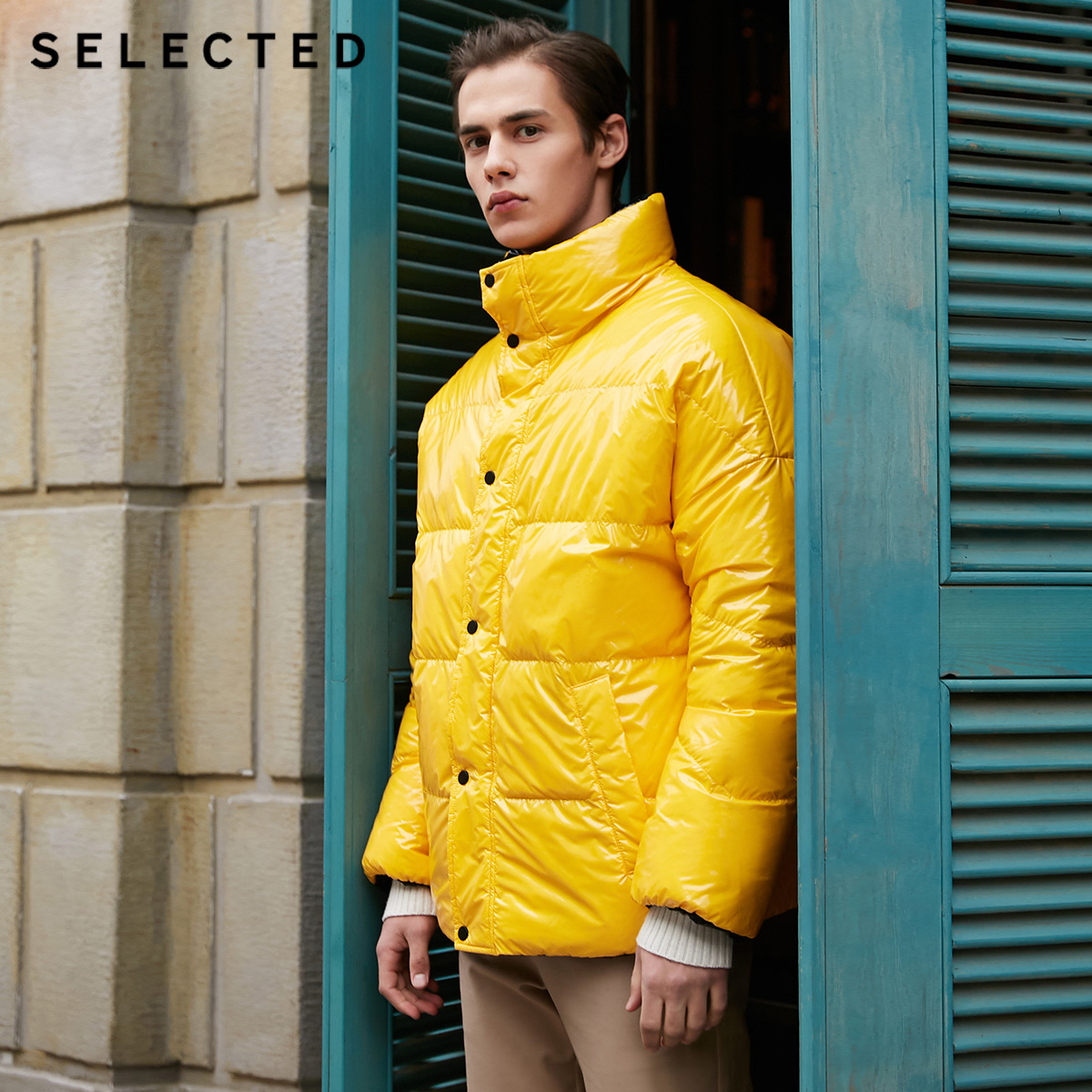 SELECTED Men's Winter Down Bread Jacket New Male Large Profile Double-sided Down Coat Short Warm Clothes S | 418412564