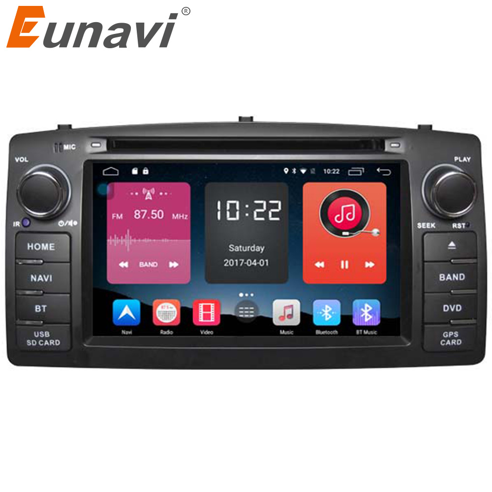 Eunavi 2 Din Car DVD stereo For Toyota Corolla E120 BYD F3 Android 6.0 Quad core RAM 2G GPS with touch screen WIFI Car radio